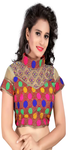 Multicolor Print Saree Blouse