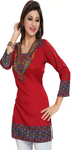 Printed Red Tunic