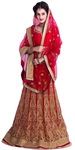 Red Golden Embroidered Lehenga Choli