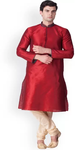 Red Kurta and Pyjama Set for Men