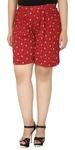 Red Regular Shorts